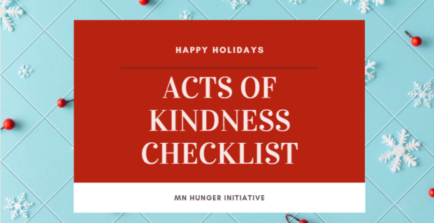 Acts of Kindness Checklist -MN Hunger Initiative Edition